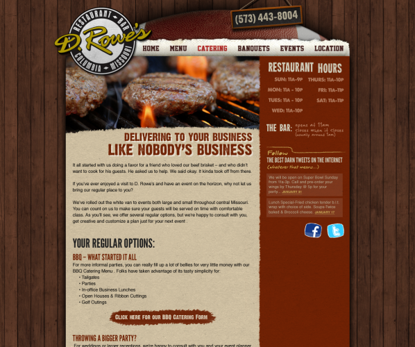 D. Rowe's Website Design