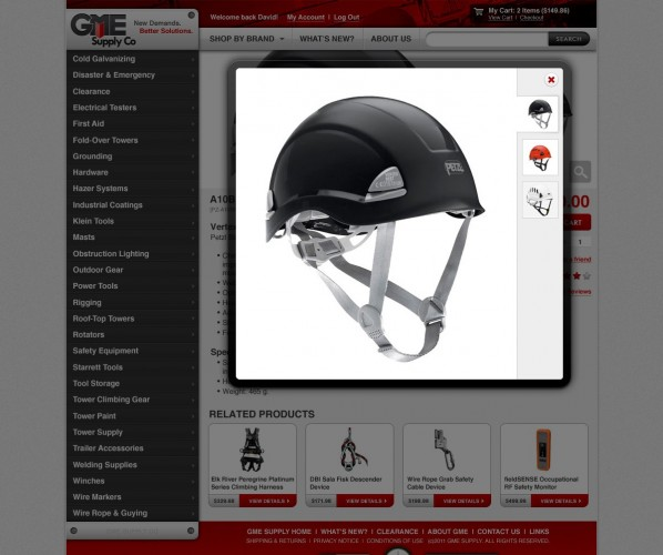 GME Supply Website Design
