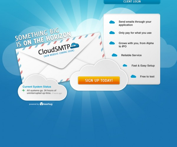 CloudSMTP Website Design