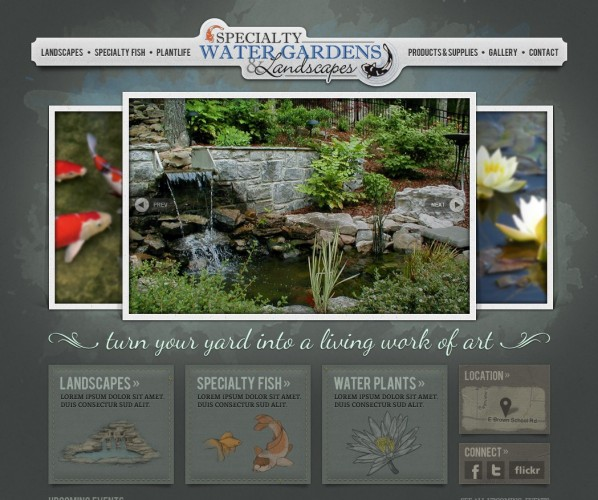 Specialty Water Gardens Website Design